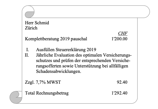 MWST Value Added Tax Service Combination and Discretionary Assessments Nadia Tarolli Schmidt Urs Denzler Seminar Case Studies ZSIS ISIS Steuerrecht tax law Service Combination Basics