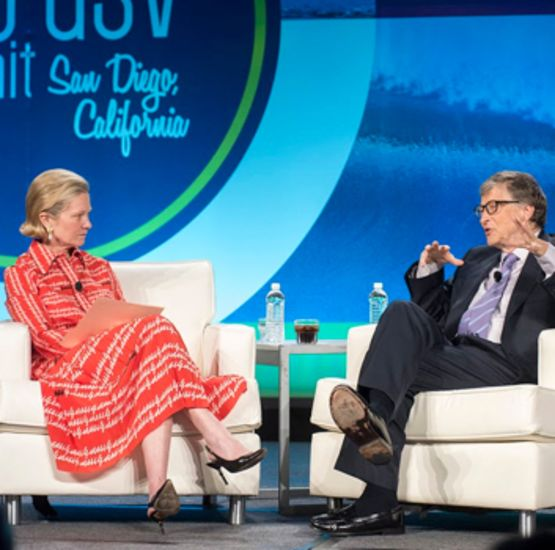 Bill Gates and Deborah Quazzo