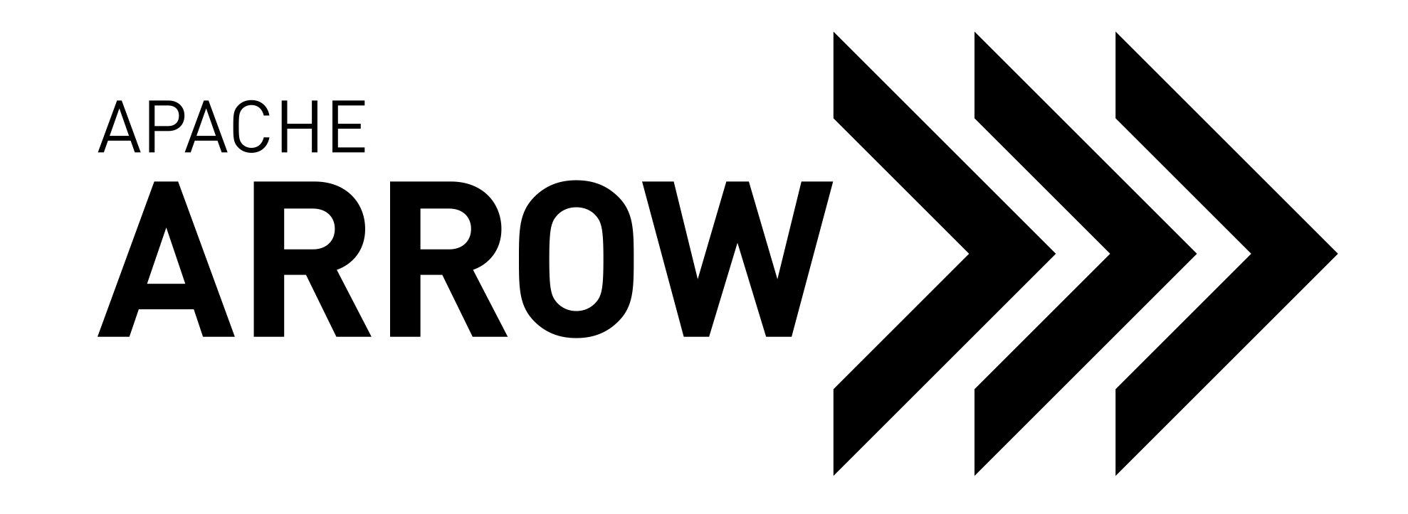 Image depicts the Apache Arrow logo. Apache Arrow is a platform that analyzes the memory in a server's random access memory (RAM)