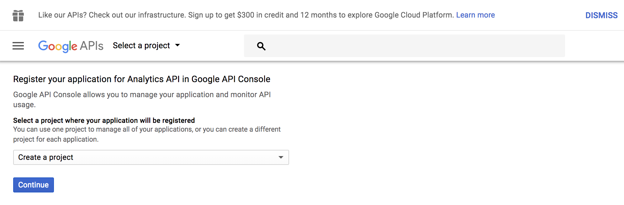 Enable the use of API for your Google account