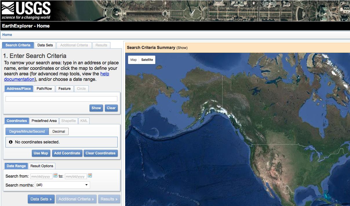 USGS Lidar Site