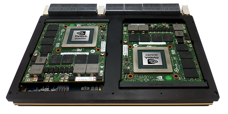 Image depicts a GPGPU from OmniSci's partner Nvidia.