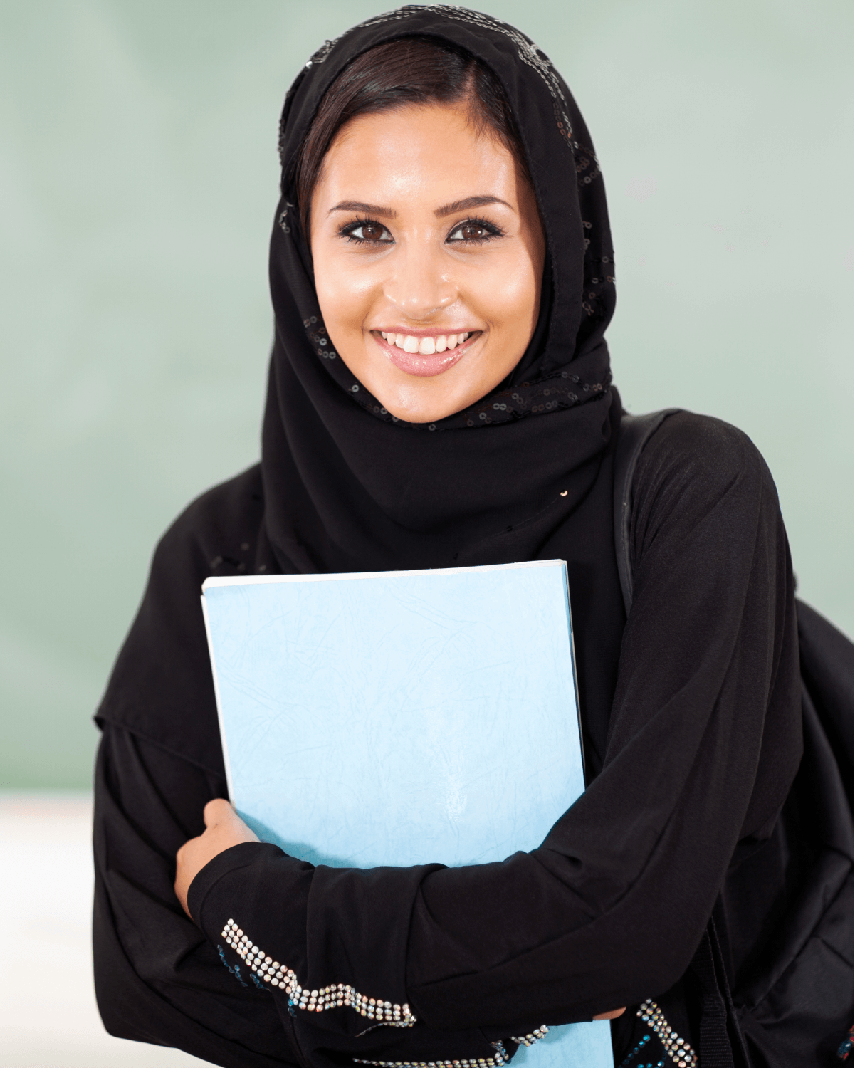 A female student interested in connecting with colleges and universities.