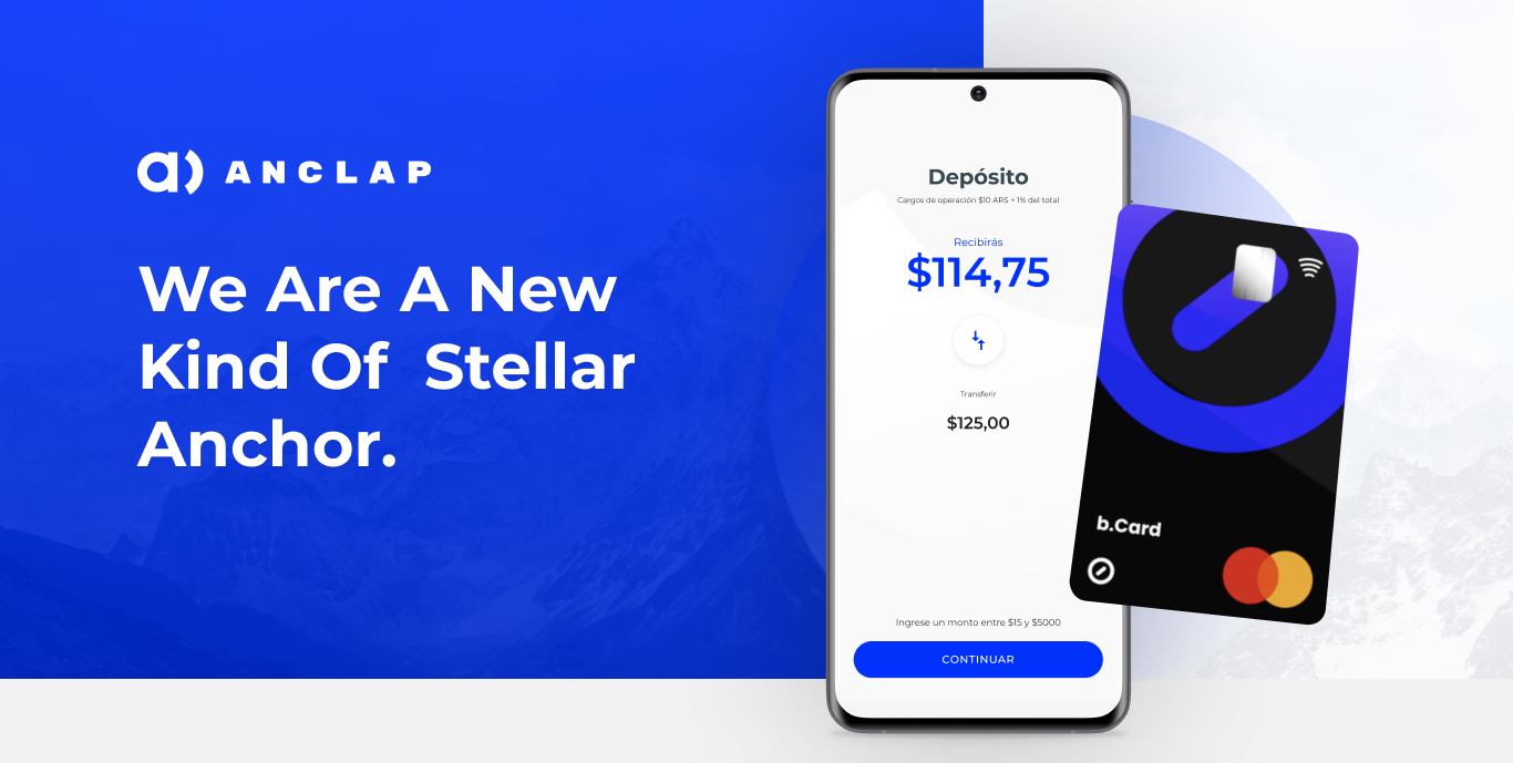 Anclap; Anchor + Debit Card for everyday transactions!