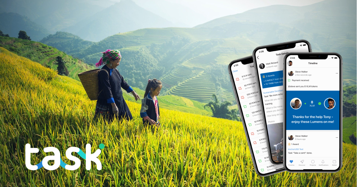 Task.io - Economies that reward and connect people - scaling social missions with Stellar