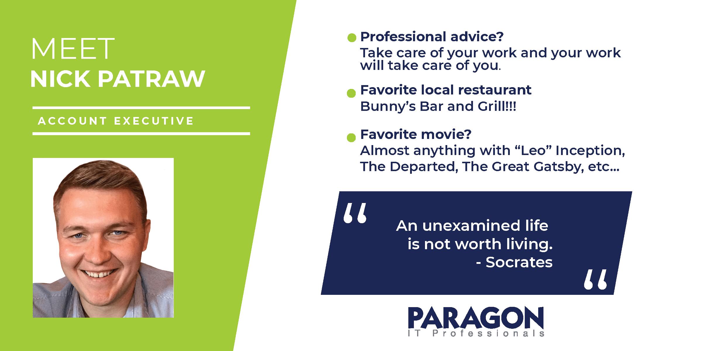 Meet Paragon Account Executive Nick Patraw