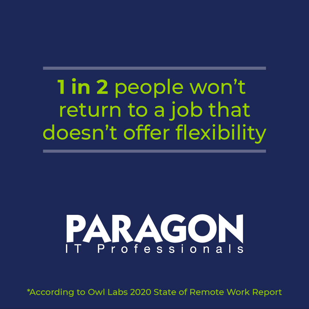 1 in 2 workers want flexibility