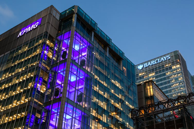 KPMG offices in London.
