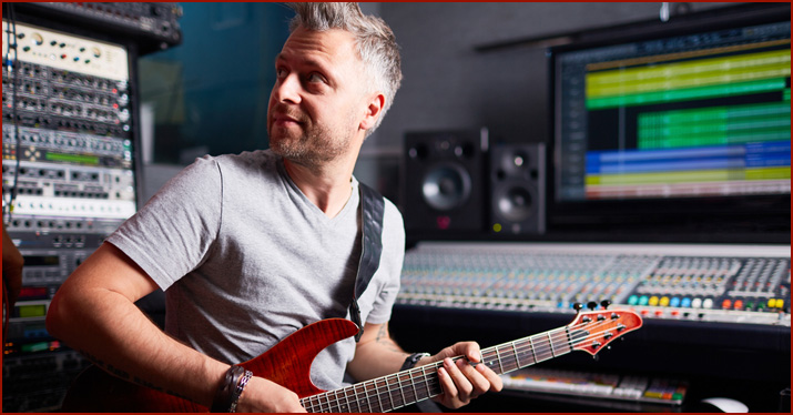 Guitarist at the DAW