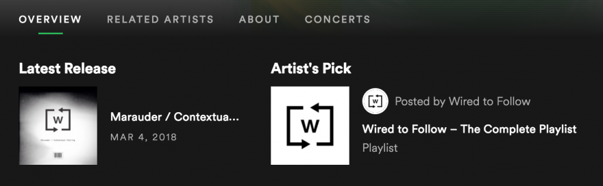 Not only can you tell fans about your own music, you can tell them what you listen to on Spotify.
