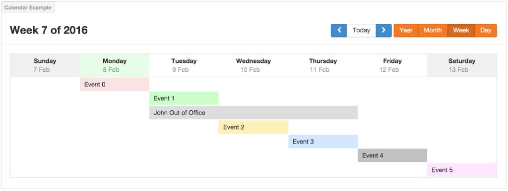 calendar week view screenshot