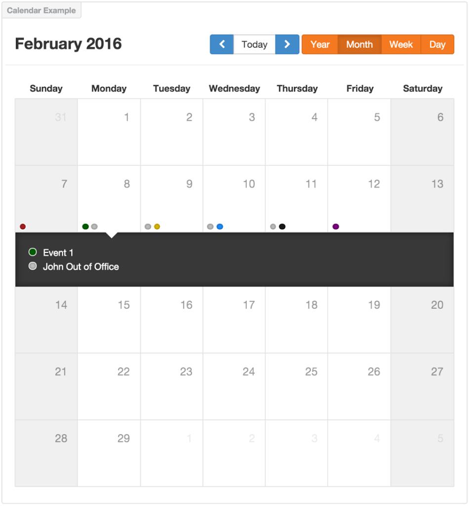 calendar month view screenshot