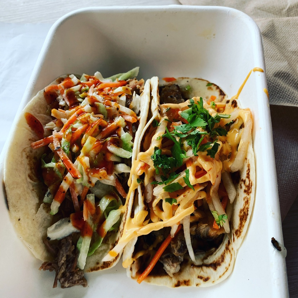 one brisket, one banh-mi taco at the Austin Airport