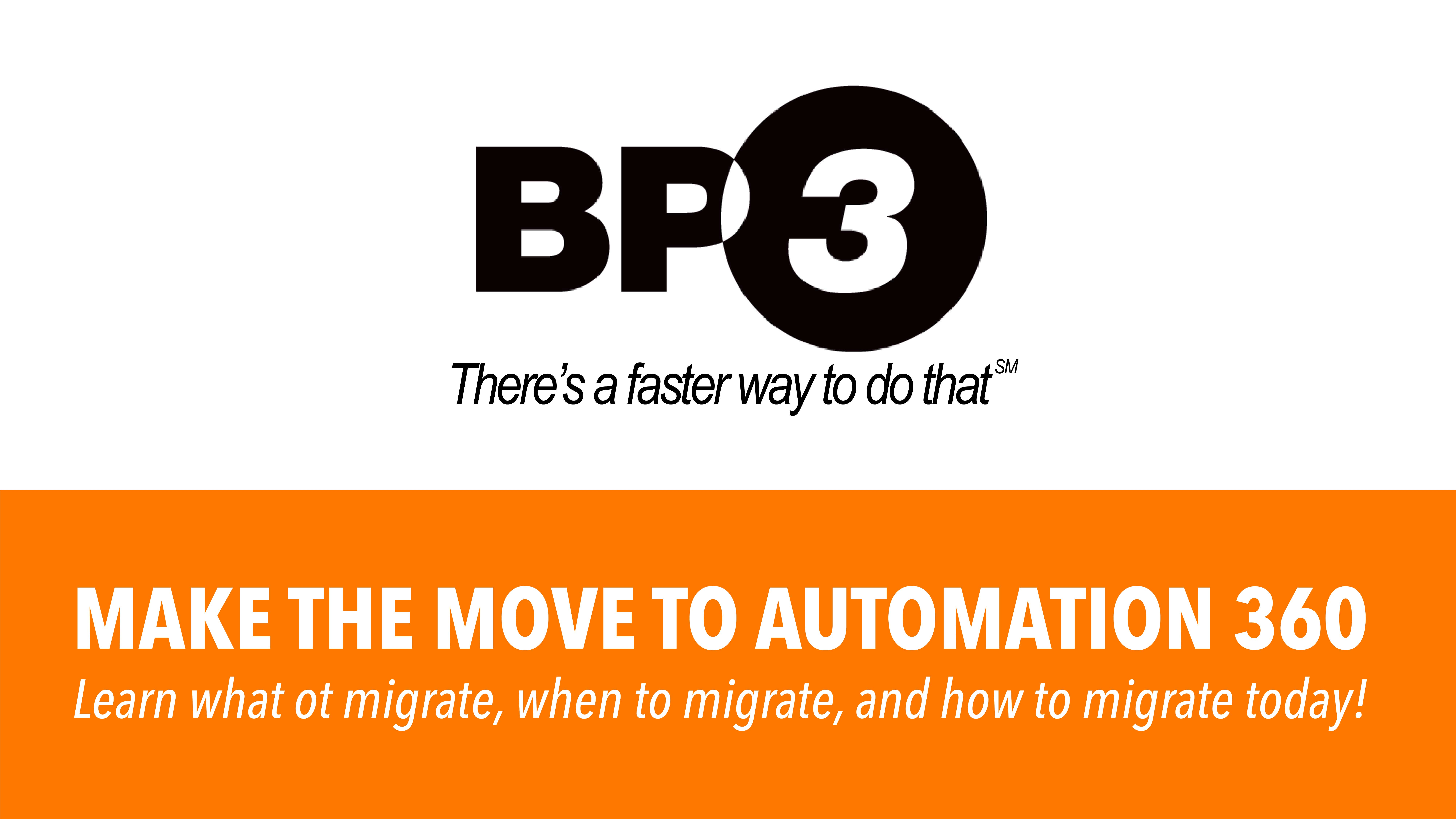Migrating to Automation Anywhere's Automation 360