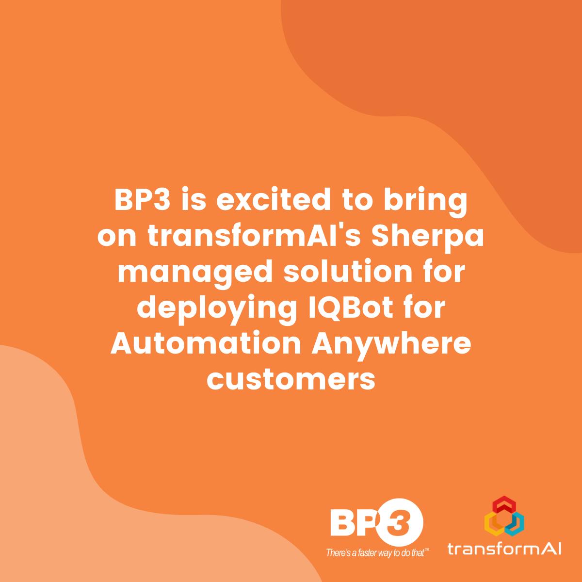 BP3 Global transformAI IQBot announcement image