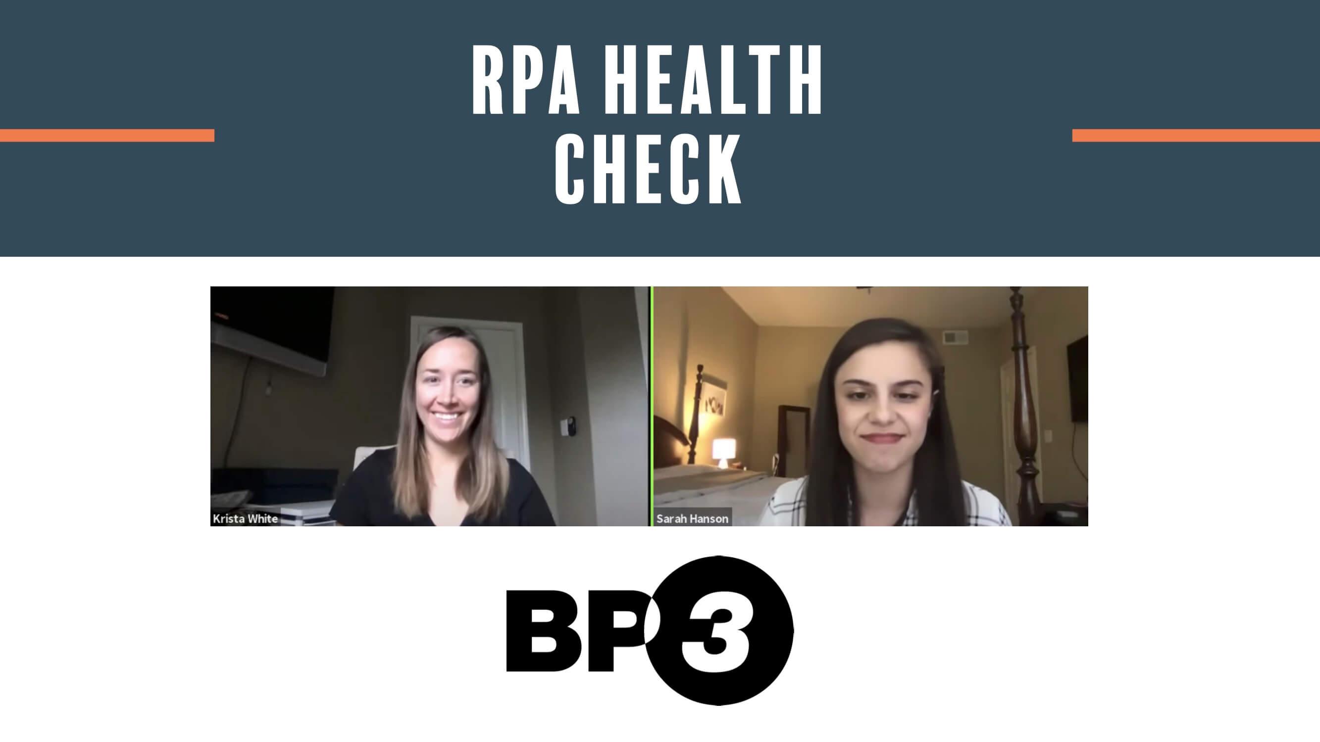 RPA Health Check
