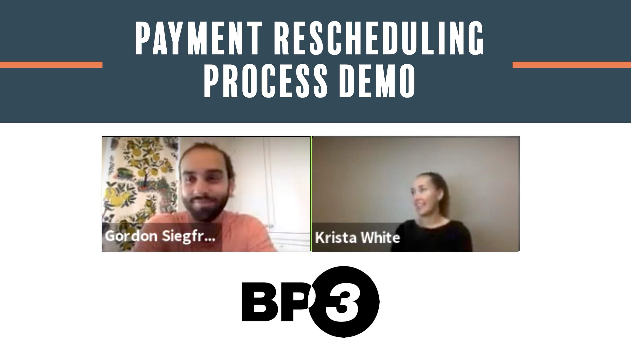 Payment Rescheduling Process Demo