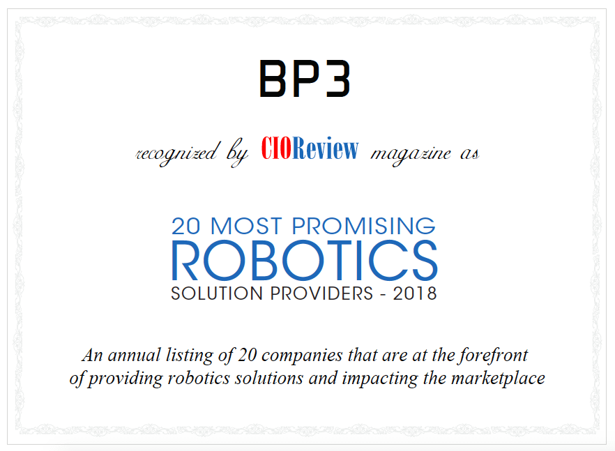 CIOReview - BP3: Redefining Business with Robotics