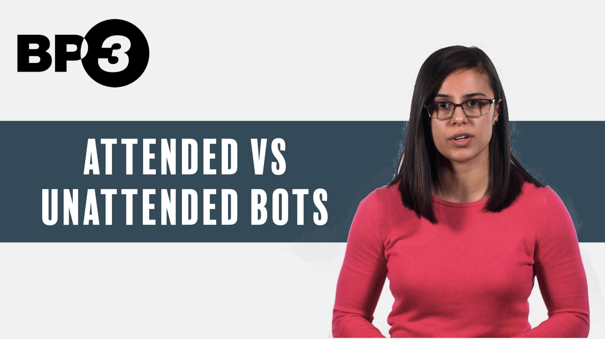 I've always thought about attended vs. unattended as much like the difference between RDA and RPA, as covered in an early video in our RPA series, back in 2018.
