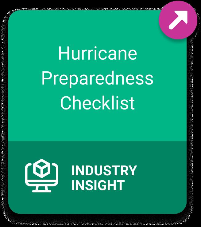 Industry Insight: Hurricane Preparedness Checklist