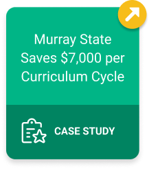 Murray State Saves $7,000 per Curriculum Cycle