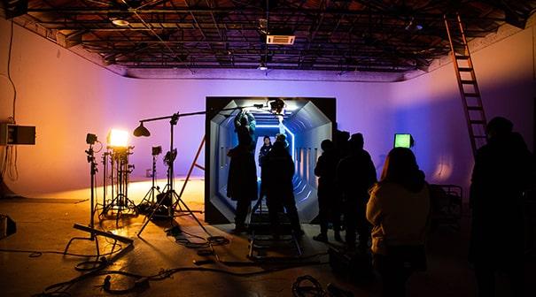 Film studio sound stage