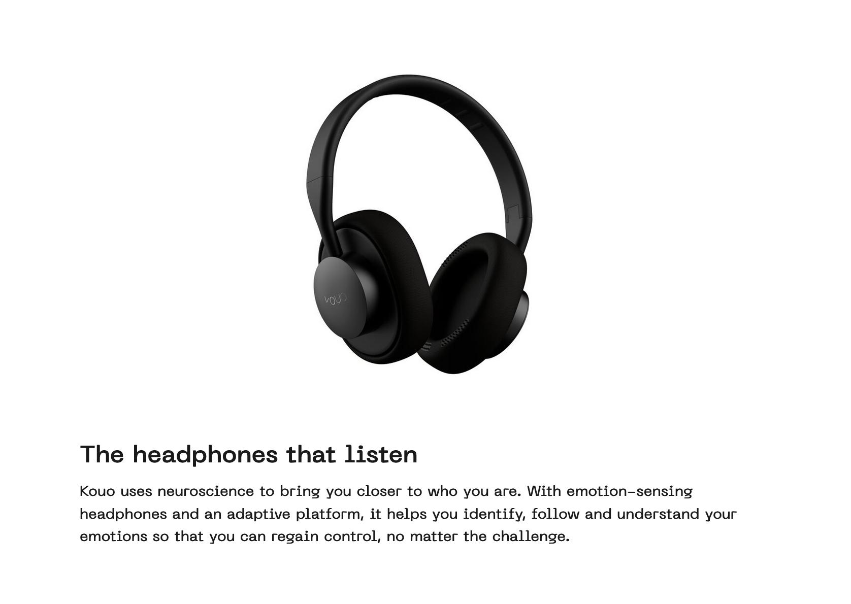 Black over-ears headphones float in mid air