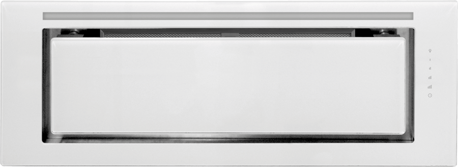 Schweigen IN. Silent White Glass Undermount Rangehood 900mm