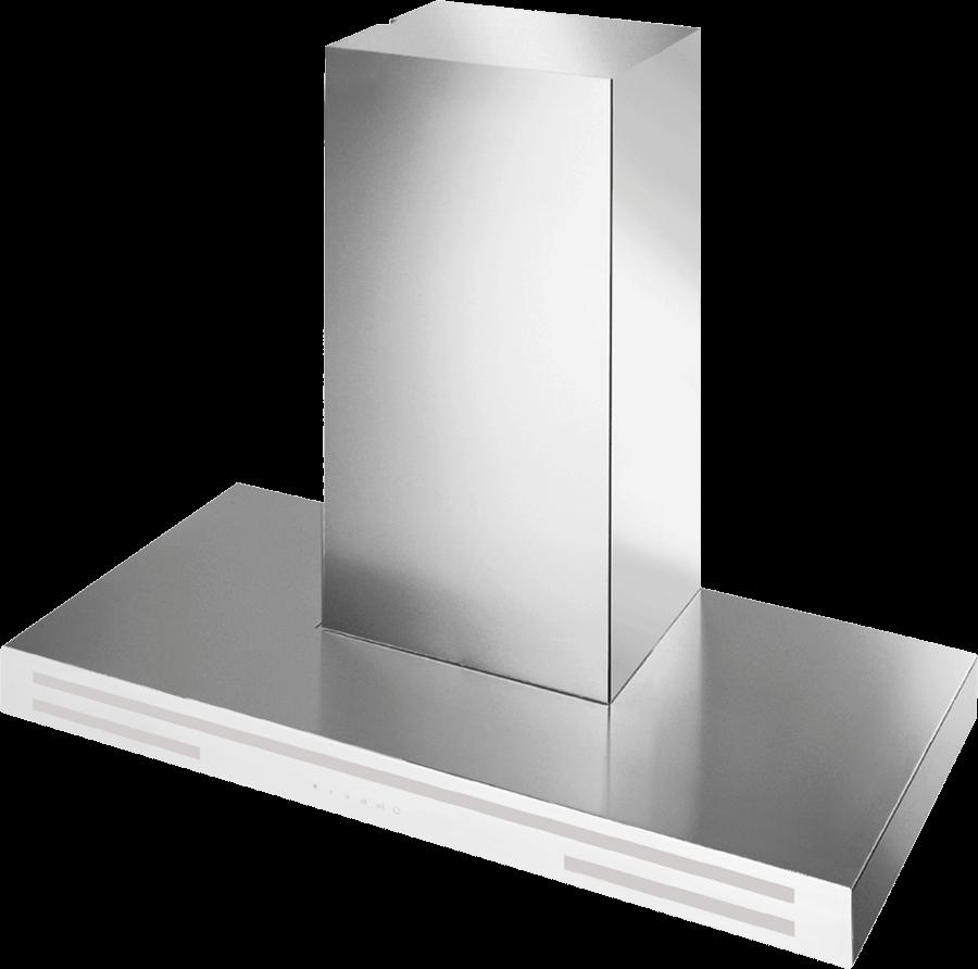 Schweigen IN. Silent Alba White Wallmount Rangehood 900mm