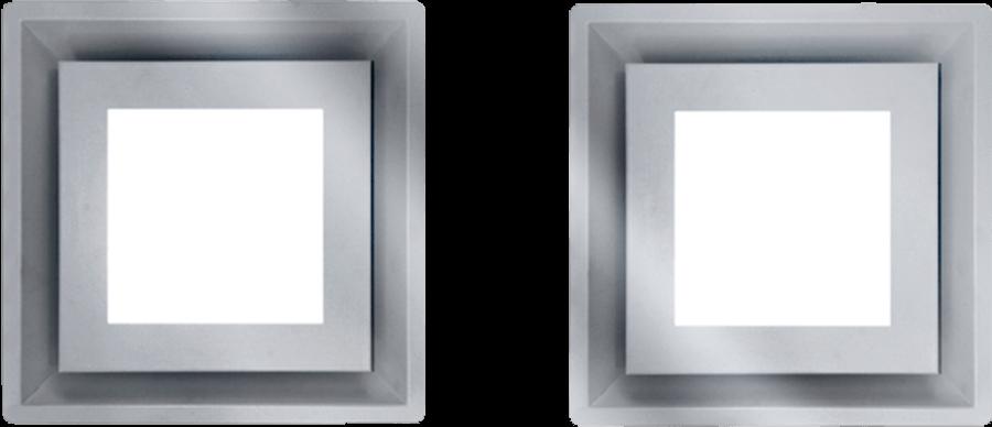 Schweigen IN. Silent Paradigma Cassette Rangehood (x2) Stainless Steel