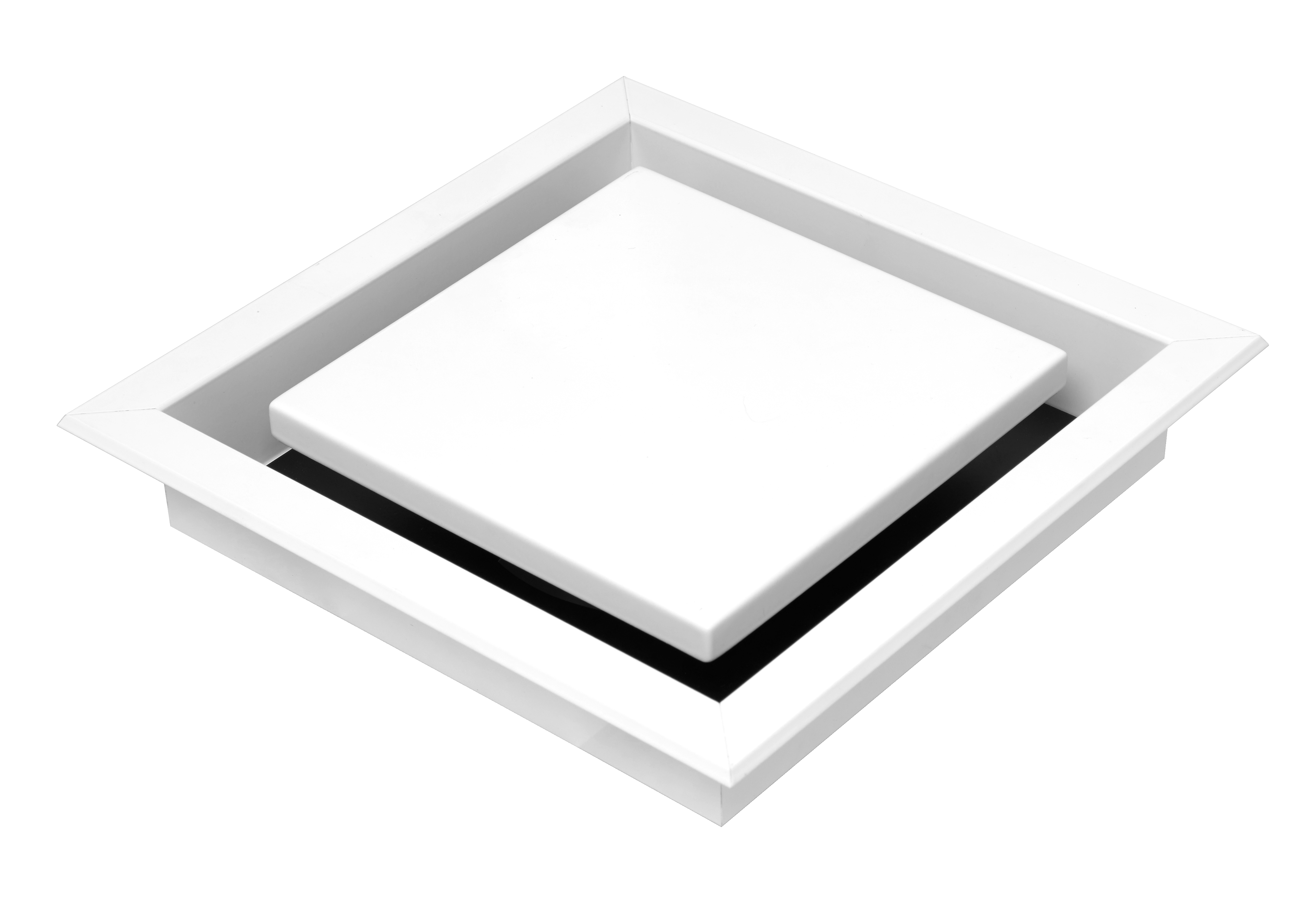 Schweigen Silent Exhaust Fan (White Square Recessed Diffuser)