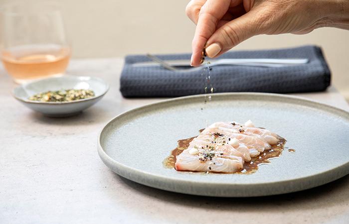 Kingfish with Coconut, Chilli Oil & Nori Crumb