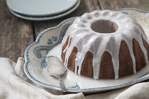 Rosemary Citrus Bundt Cakes with Lemon Drizzle