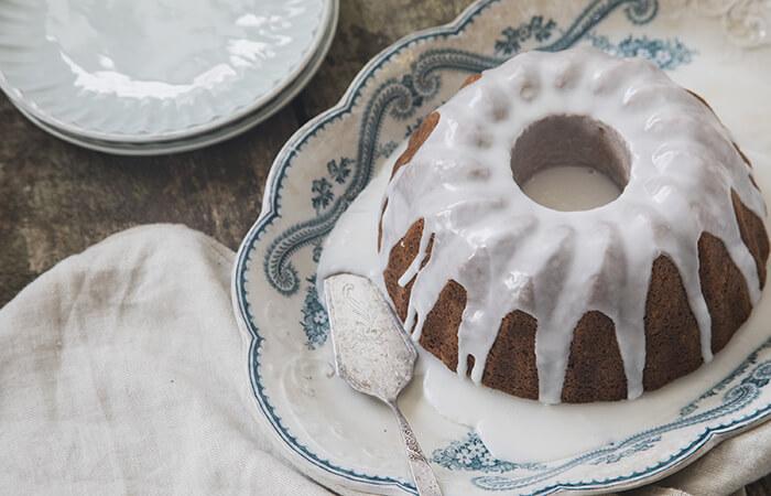 Rosemary Citrus Bundt Cakes with Lemon Drizzle