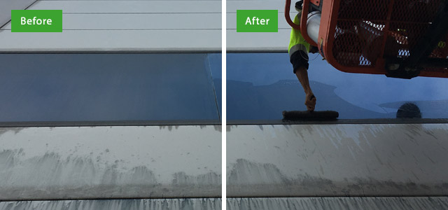 before after high rise window cleaning