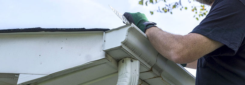 Gutter Gaurd Install Main Support