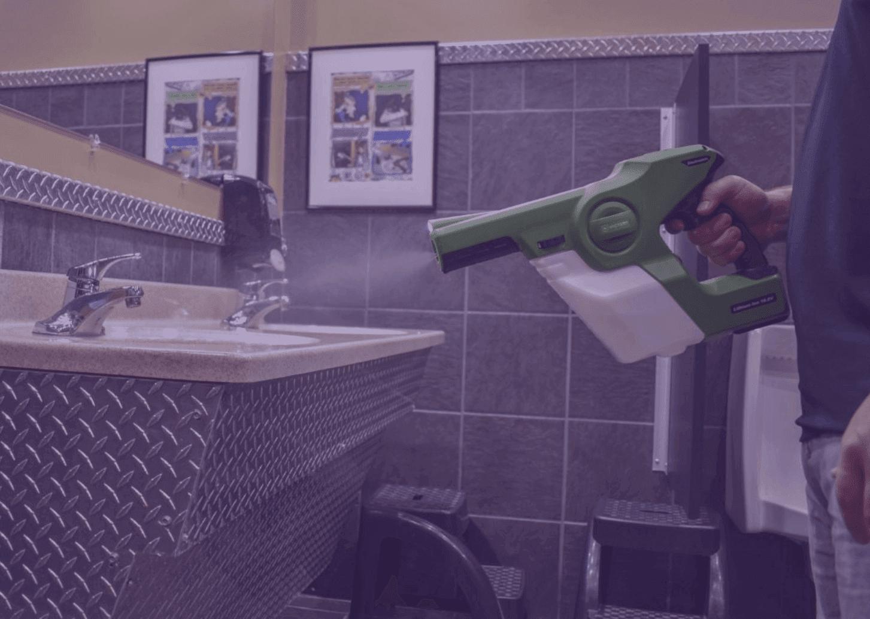 man holding victory handheld sprayer