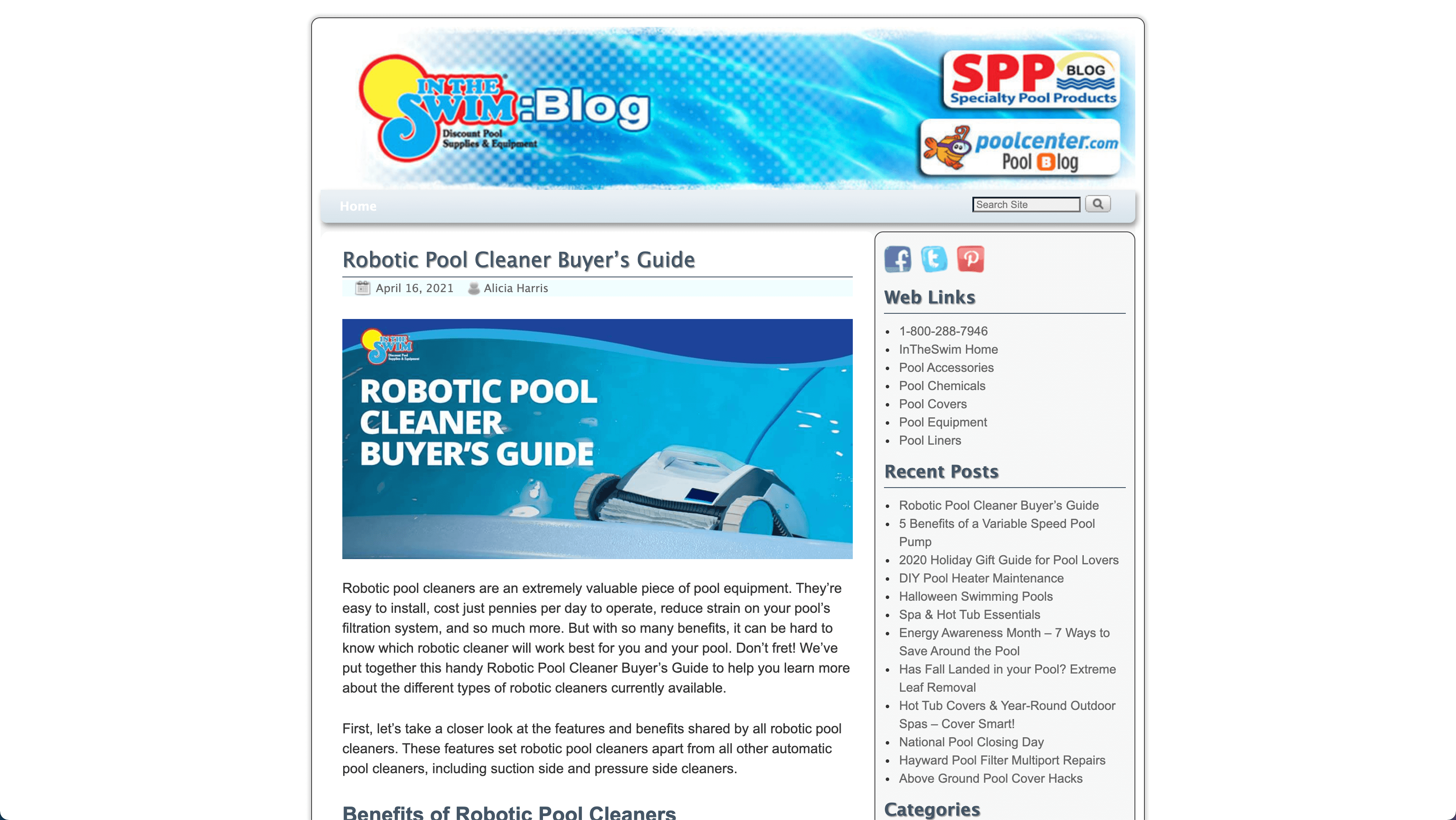 in the swim pool blog