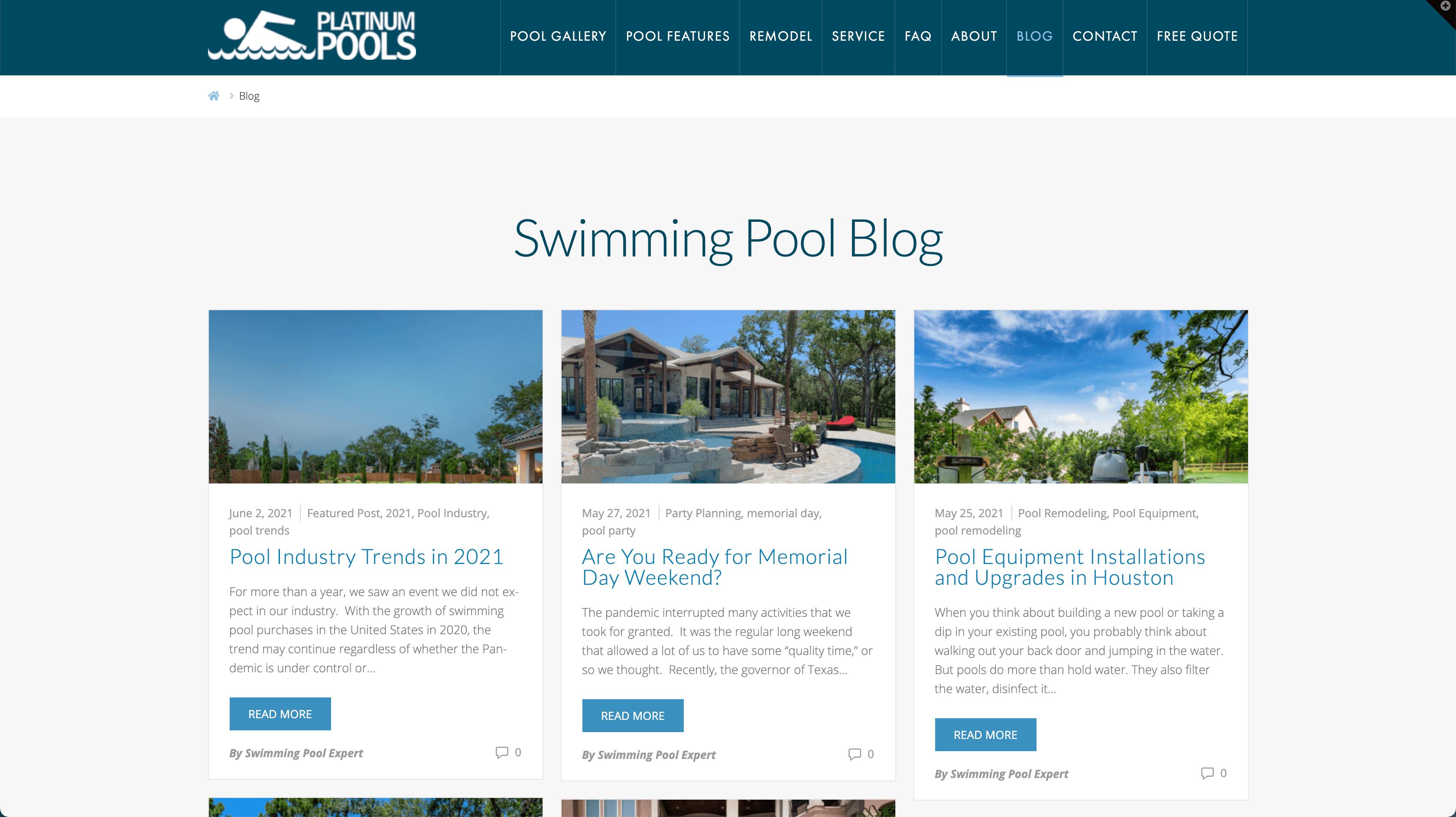 platinum pools blog
