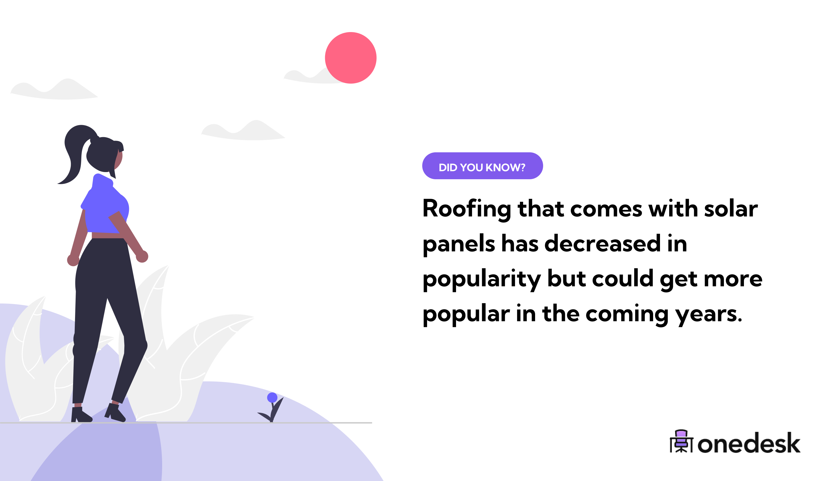 roofing that comes with solar panels is less popular