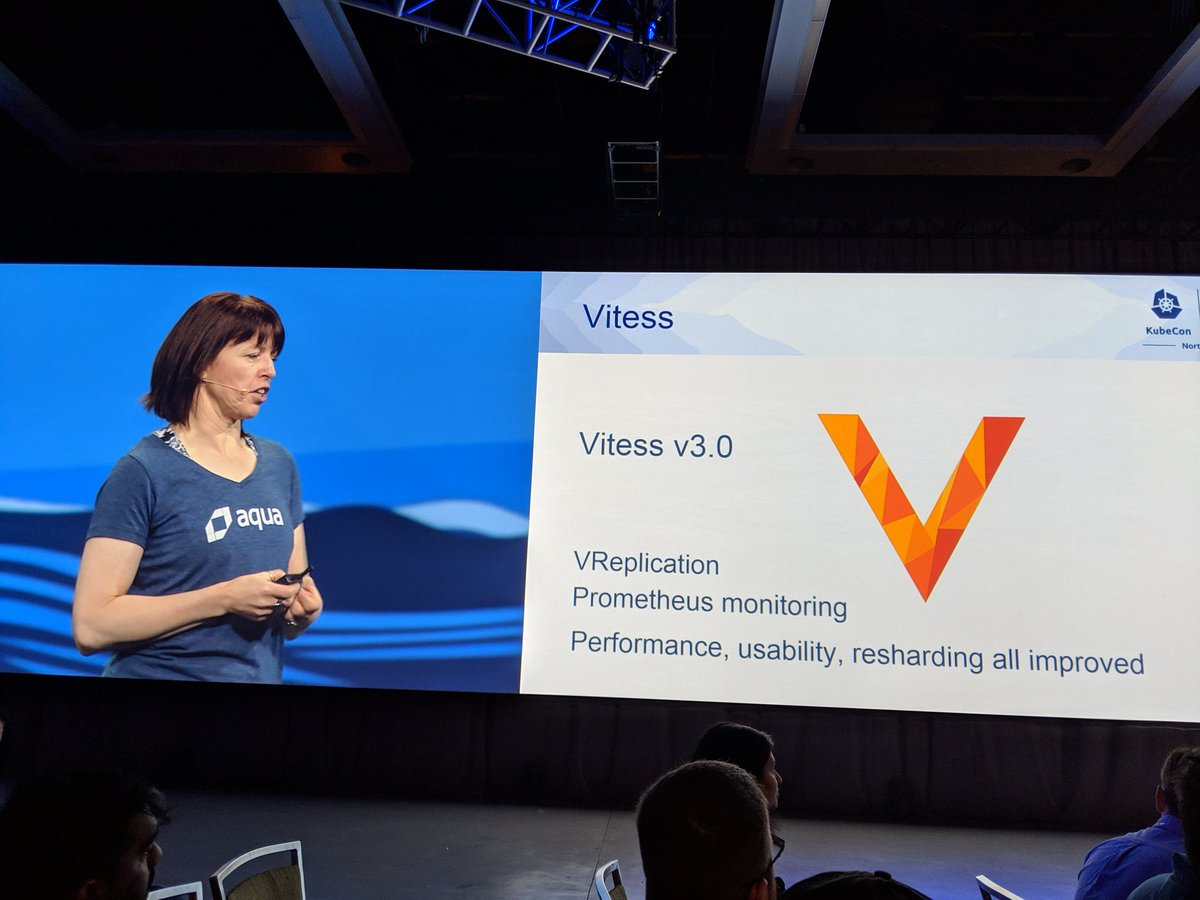 Picture of Liz Rice's Keynote at KubeCon Seattle