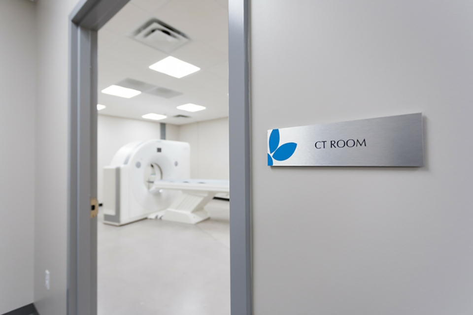 ct scan room one of many Science Care scanning options for specimens