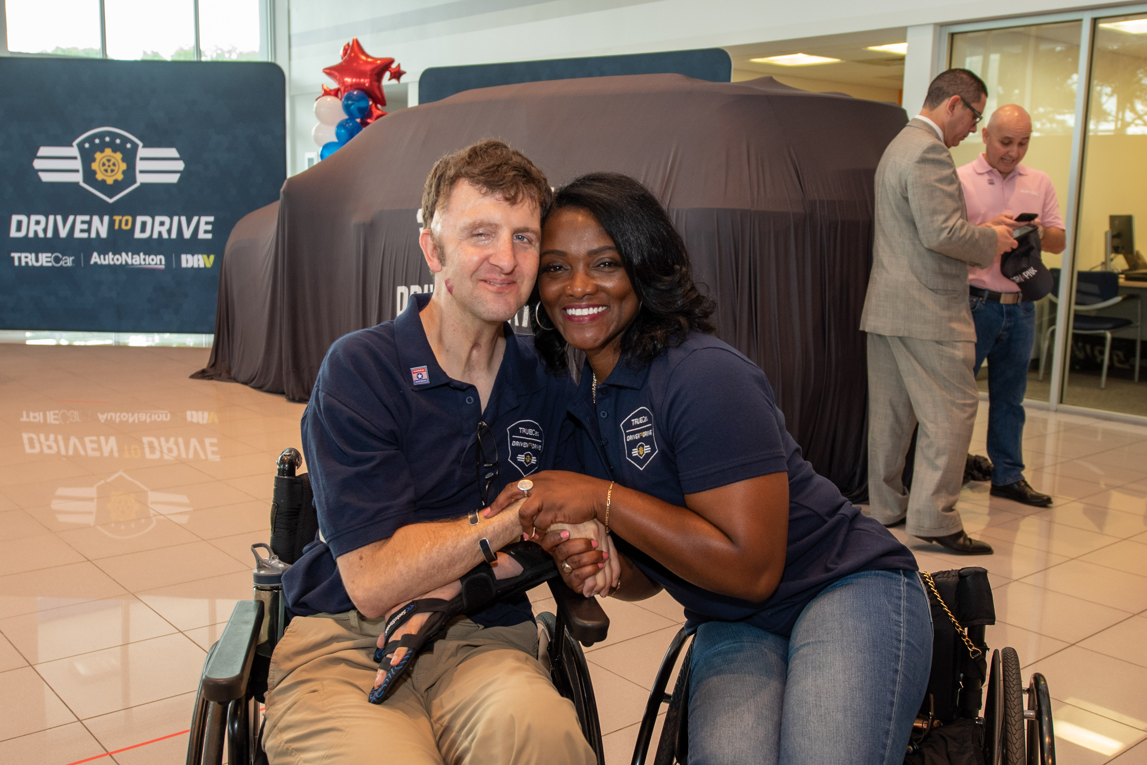 "U.S. Army Sergeant First Class (Ret.) Centra ""Ce-Ce"" Mazyck  and Army Ranger Cory Remsburg for DrivenToDrive"