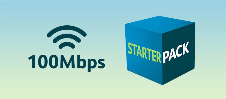 100Mbps + Starter Pack