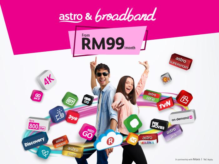 Unlimited Entertainment High Speed Internet Astro Broadband