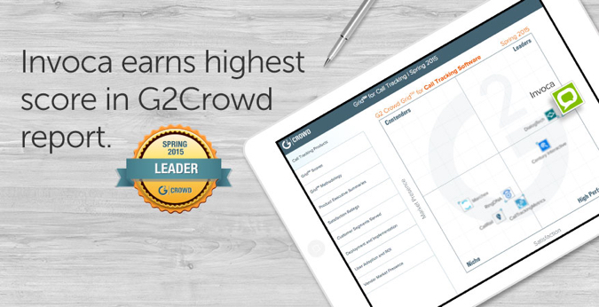Invoca Customers Say We're The Leader In G2 Crowd Industry Report