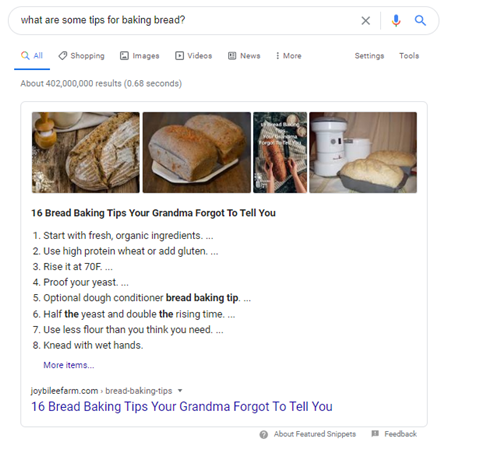Look at existing featured snippets for the search terms you are looking to rank for to learn how to write your content to get a featured snippet.