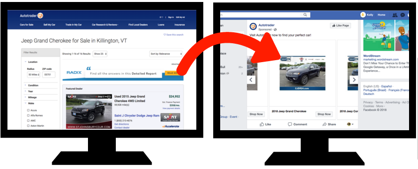 What a retargeting ad looks like. You can improve ad quality with call tracking software.