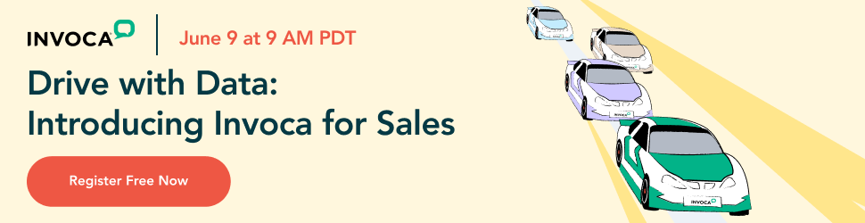 Register for the Drive with Data: Invoca for Sales event