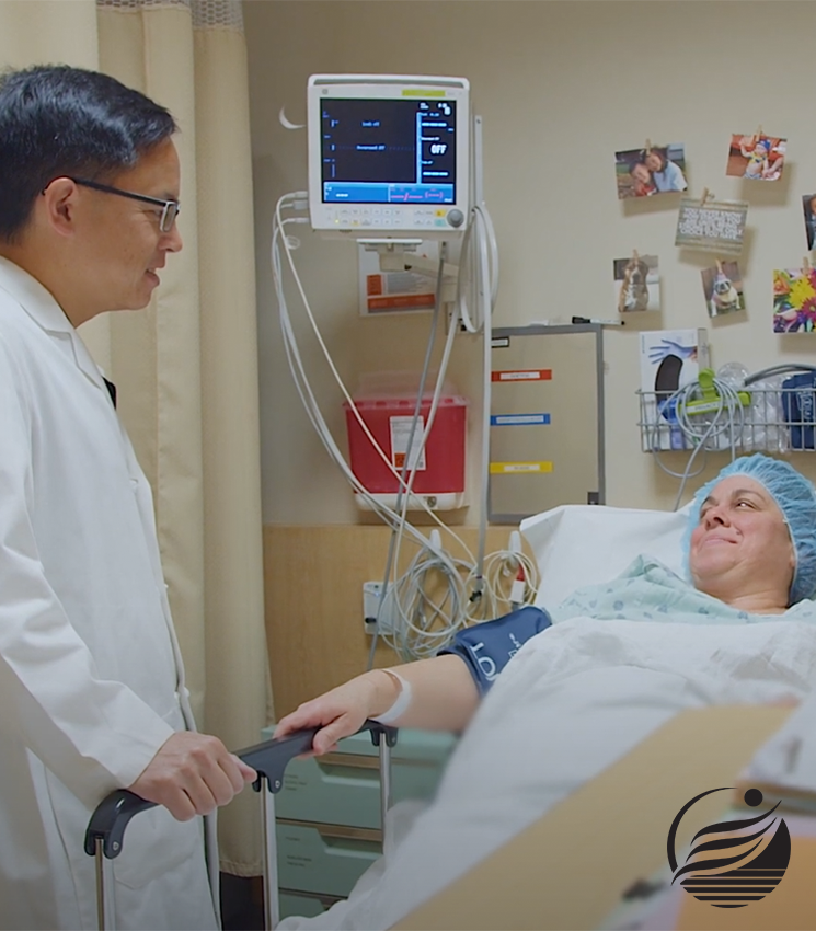 dr brian chin with bariatric surgery patient before surgery begins